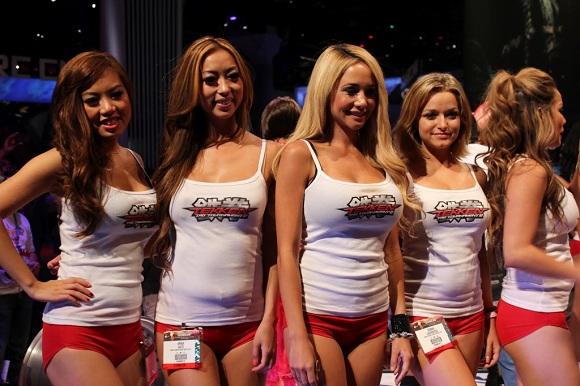 I'm sure these women are well versed in the talking points for Namco Bandai's upcoming fighting game.