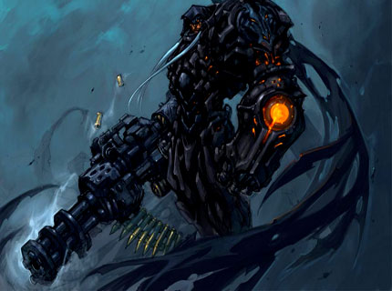 Some original concept art for Darksiders, back when it had the