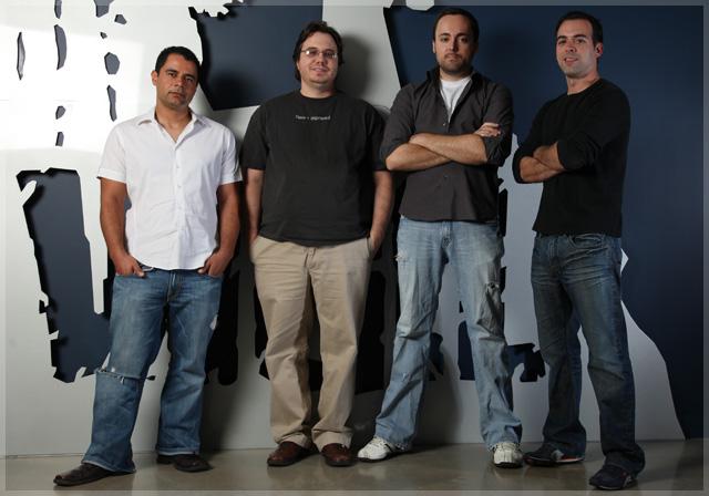 The four founders of Vigil Games: Joe Madureira, David Adams, Marvin Donald, Ryan Stefanelli.