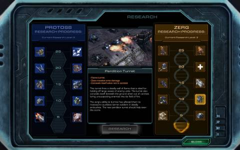 The upgrades you will be able to earn against the Protoss and Zerg for finding collectibles.