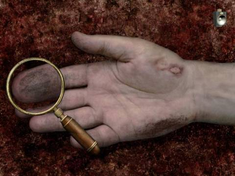 Use the magnifying glass to search for clues