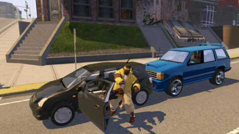 Player stealing a car.
