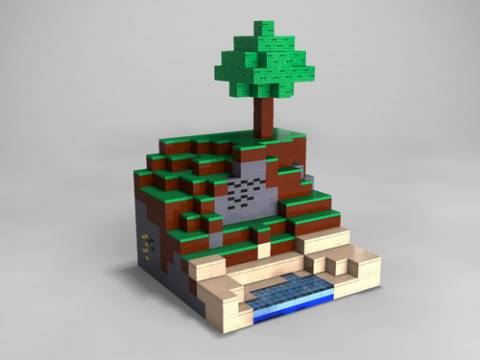 Minecraft Legos. Now your virtual building blocks can be more constrained physical building blocks!