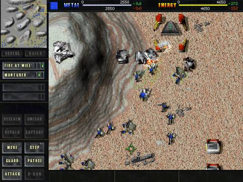 A screenshot from Total Annihilation
