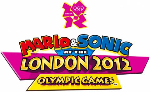 The logo for the third game, Mario & Sonic at the London 2012 Olympic Games.