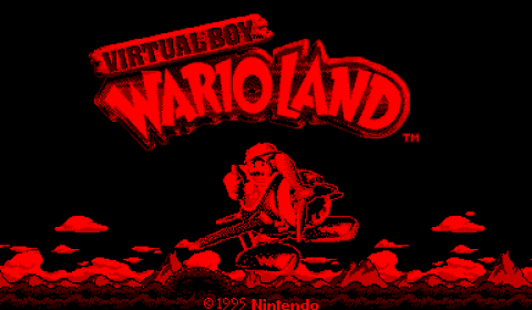 Virtual Boy Wario Land in all its 2 color glory.