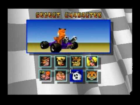 Racer select screen