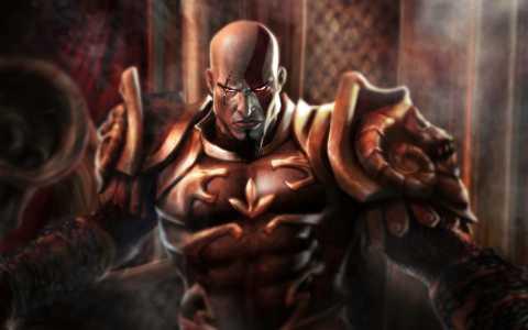 Kratos as the God of War