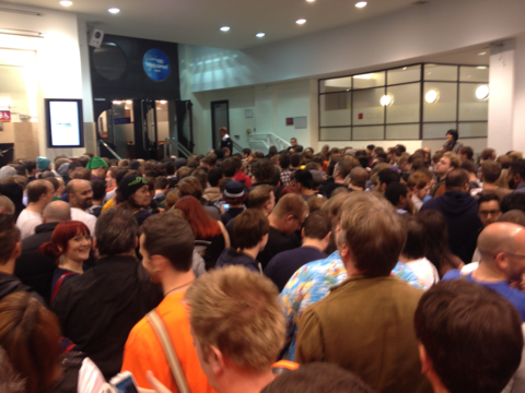 This was the 'queue' on the first day...