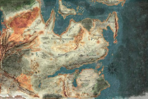The Map of Thedas (Click for larger resolution)