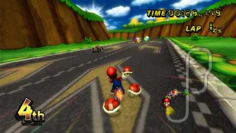 Mario Kart Wii in action.