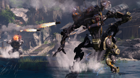 The titans can dash out of the way of some missiles.