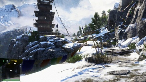 There isn't a ton of snow in Far Cry 4, but there's enough to keep things looking fresh.