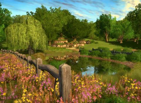 The Shire as shown in Lord of the Rings Online