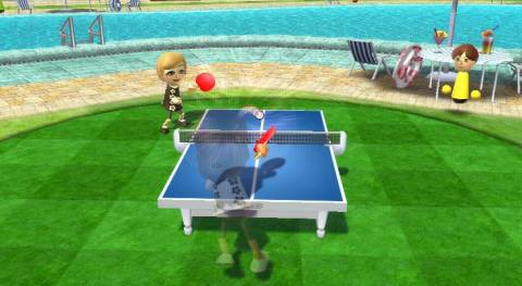 A table tennis game at the island.