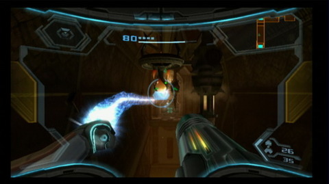 Grapple Beam as it appears in the 3D Metroid Games.