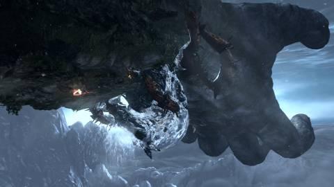 Kratos does his best work upside down.