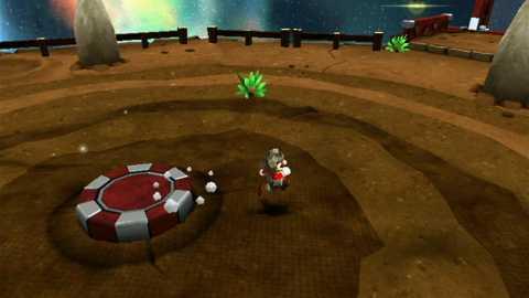 Mario in his Rock form in World 2