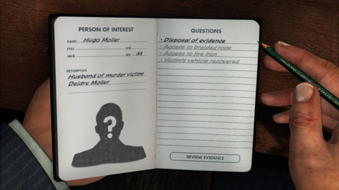 Your Journal helps you keep track of Suspects, Clues, and Goals throughout the game
