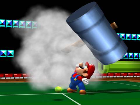 Mario's offensive special, where he whacks an incoming ball with a giant hammer.