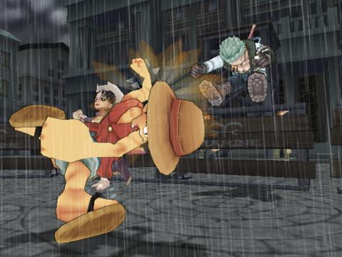 Luffy punching Smoker
