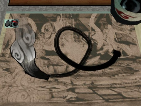 The Celestial Brush being used in Okami.