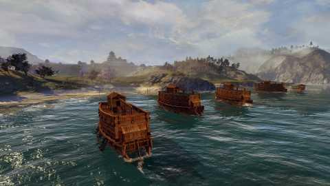 Naval Battles in action.