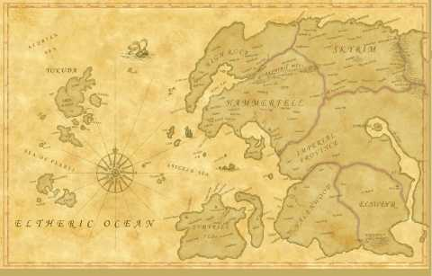 The only known map showing Yokuda.