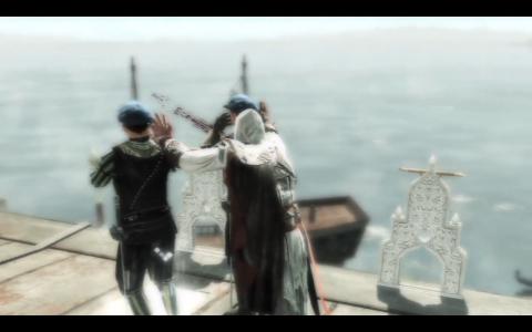 Thanks to Leonardo, Ezio uses TWO hidden blades