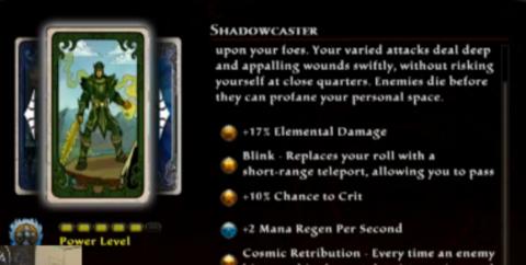 Shadowcaster Destiny: A mage/rogue hybrid