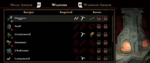 Players can forge new items with Blacksmithing