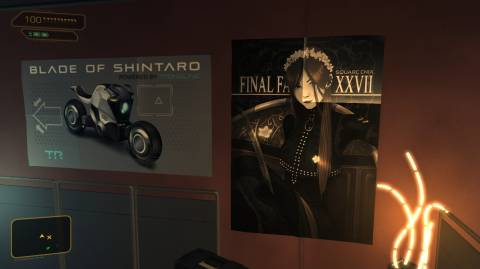 Final Fantasy XXVII poster in Frank Pritchard's office