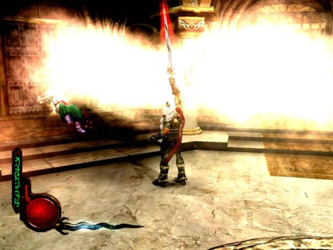Kain using the Soul Reaver