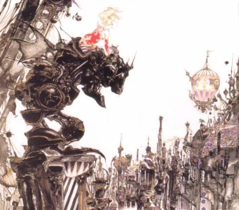 Terra riding Magitek armor