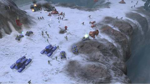 Halo Wars allows the player to play as the Humans or the Covenant.