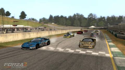 a mini-enduro being held at Road Atlanta in Forza Motorsport 2