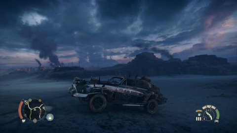The game's open world is pretty much just one large desert landscape, but it's a gorgeous one.
