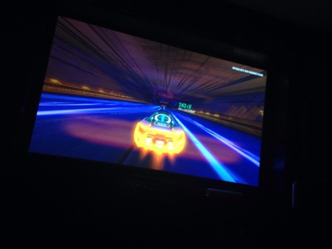 """Distance on an 80"""" projector with bigass surround sound. A puny """"screen's shot"""" couldn't capture the majesty."""