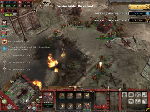 DoW focuses more on combat than base building