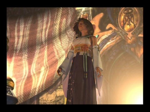 Tidus' first sight of Yuna