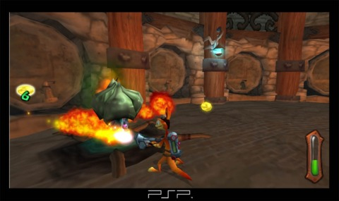 Daxter using the incendiary spray.