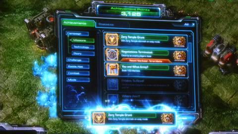 Concept Battle.net achievements in Starcraft II.