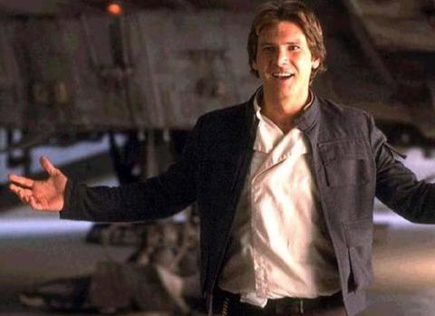 Han Solo - Talkin' his way outta trouble.