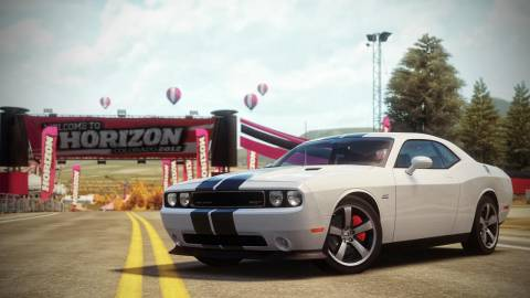 The Challenger: it's a nice car, but can you make it dance across Horizon's numerous twists and turns?
