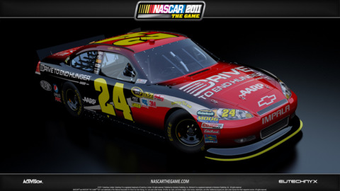 2011 Car with new paint scheme and redesigned nose