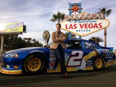 With the Blue Deuce and the Sprint Cup trophy in Las Vegas