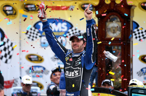 Jimmie Johnson scored the most wins in the Generation 5 car