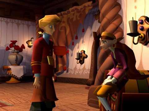 Guybrush Threepwood and Elaine Marley in Escape from Monkey Island.