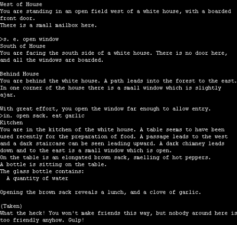 Zork made unwinnable in six turns. The garlic is required to finish the game.