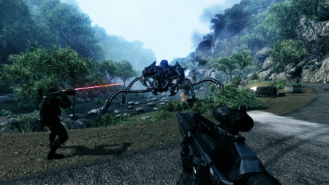 Crysis has some intense fire-fights to accompany the amazing visuals